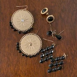 Black Boutique Earrings